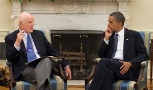 Barack obama in a meeting