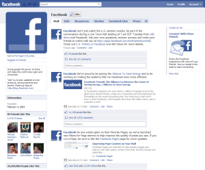 Facebook Newfeed page
