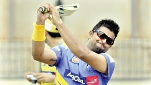 Suresh Raina in a practise sesssion