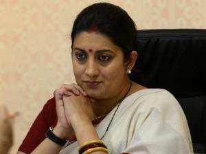 Indian union minister Smriti Irani