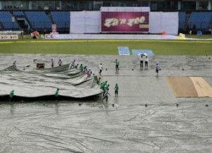 Rain interrupts India vs Bangladesh test