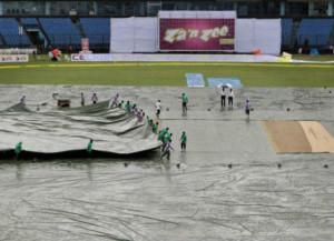 Rain interrupts India vs Bangladesh test
