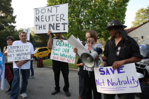 Public protests in support of Net-neutrality