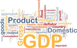 GDP economy background concept