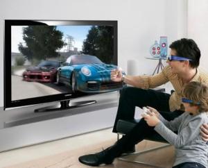 Samsung's 3D plasma television.