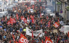 France Unions Strike over Labor Reforms