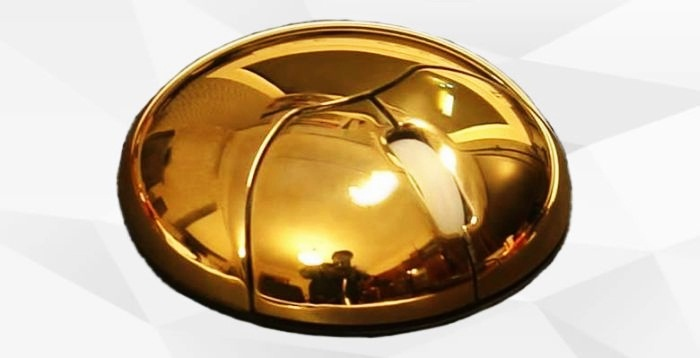 Gold Metal Sun Mouse