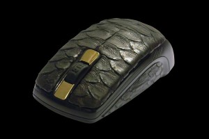 MJ Python Leather Mouse
