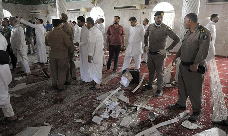 Blast inside a Mosque kiills 20 in Saudi Arabia
