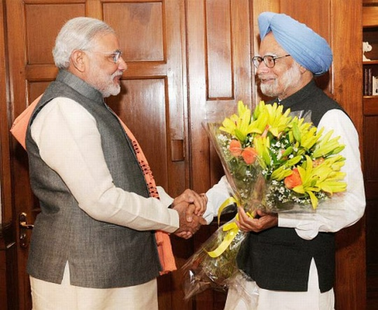 Former PM meets the Incumbent PM