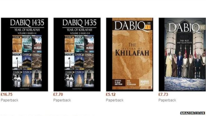 Amazon has withdrawn IS Magazine Dabiq from its online shopping
