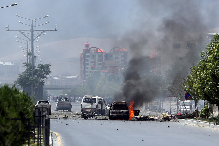 Afghanistan parliament in Kabul attacked by the Talibans
