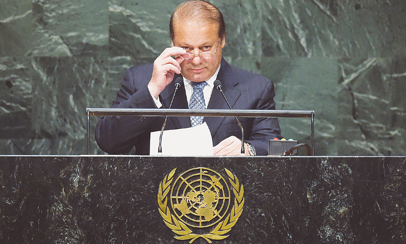Pakistan Prime Minister Nawaz Sharif raises Kashmir issue in the UN General assembly speech