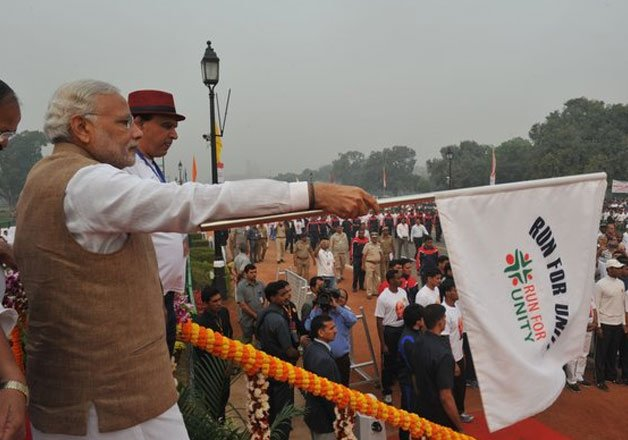 'Patel never promoted family members in politics'-PM Modi at Run for Unity