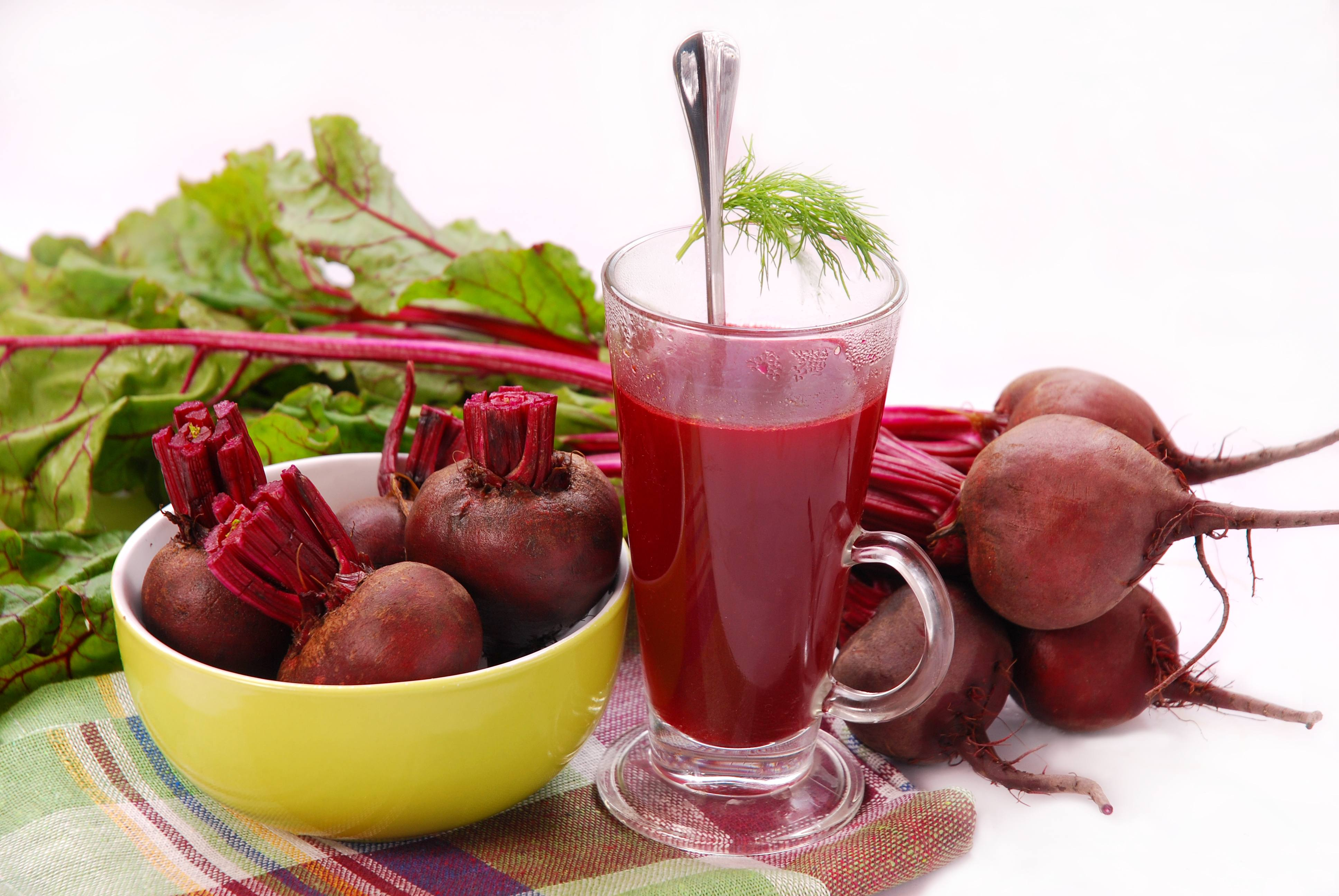 Beetroot Juice Reduces High Blood Pressure