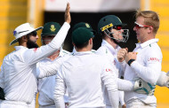 India's batting toils against South African bowling in the third test at Nagpur