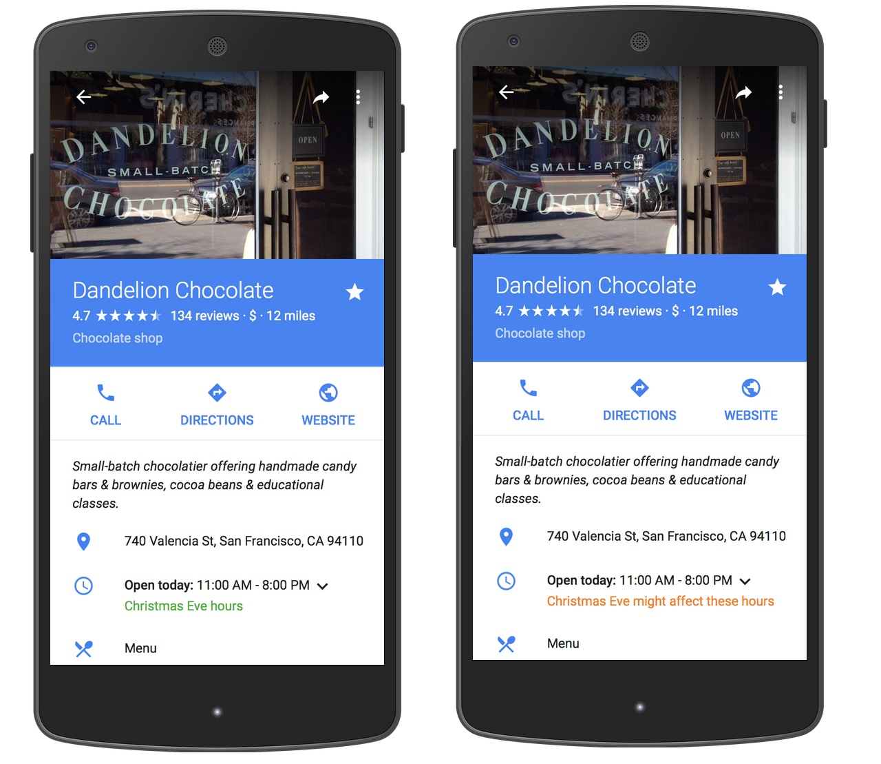Google Maps Now Shows 'Holiday Hours' for Businesses