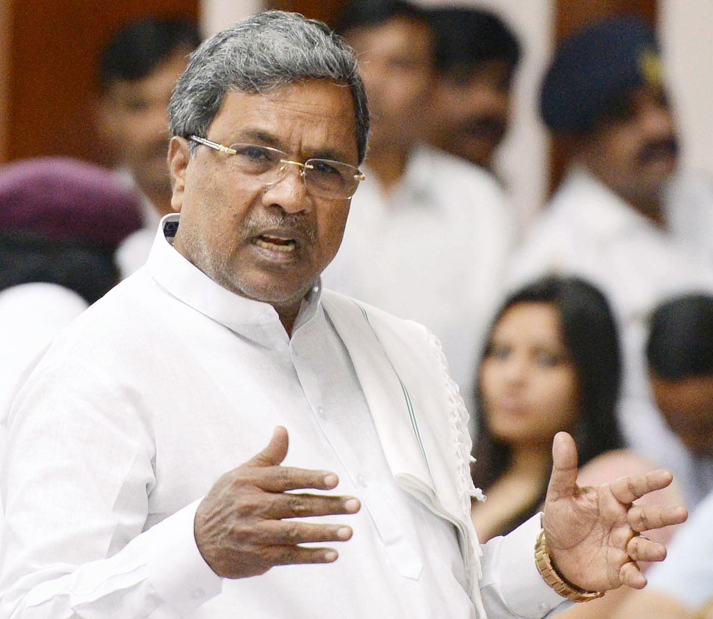 Karnataka BJP holds protest against Chief Minister Siddaramaiah over 'anti-beef comments'