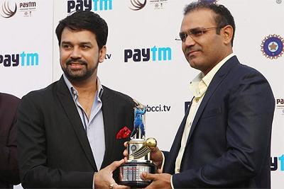 BCCI felicitates Virender Sehwag in Delhi