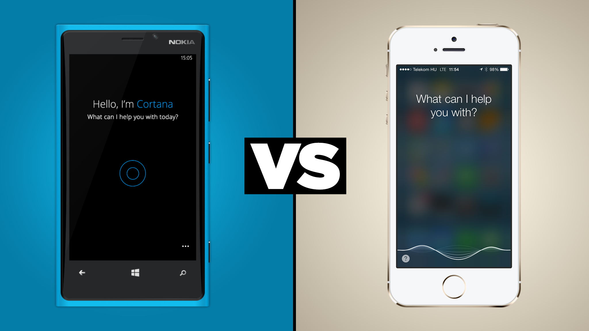 Apple's Siri vs Microsoft's Cortana on iPhone