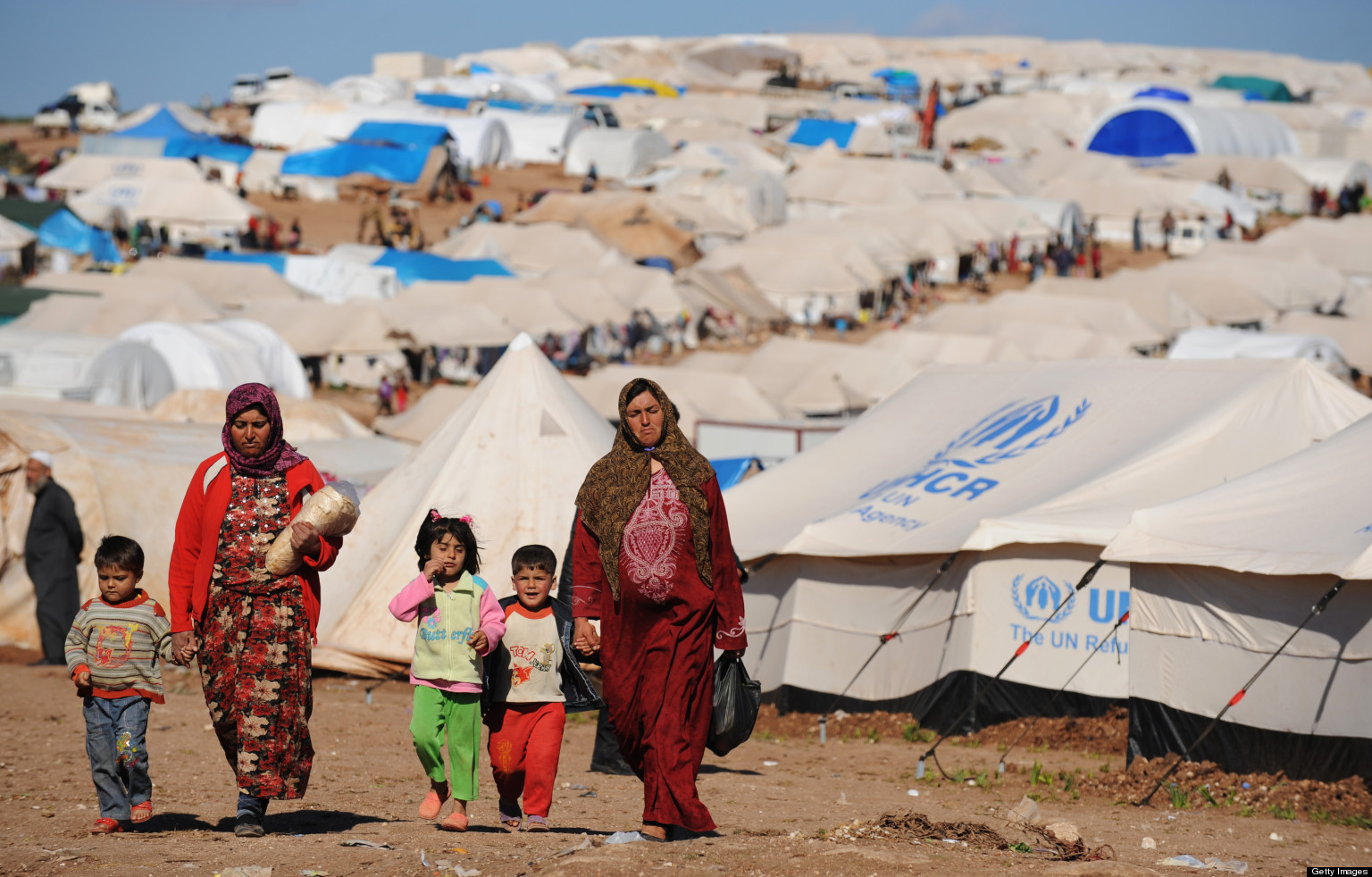Refugee Camps in Syria set up, Turkey Reduces Entries