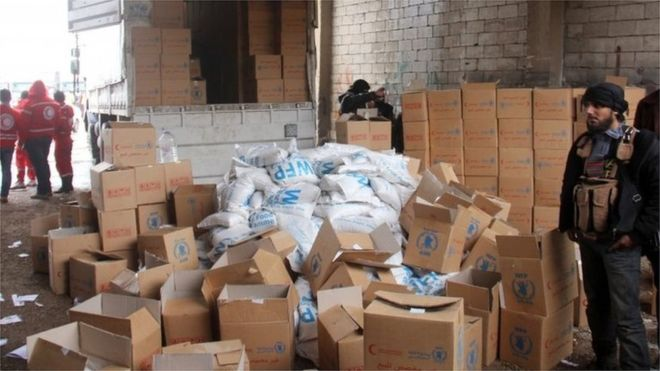 Syrian Conflict: First UN air drop provides aid to Deir al-Zour