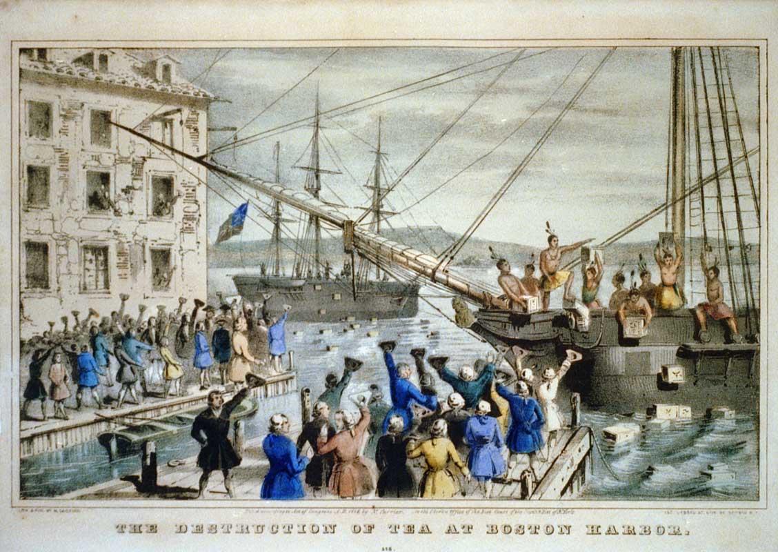 The 1773 Boston Tea Party