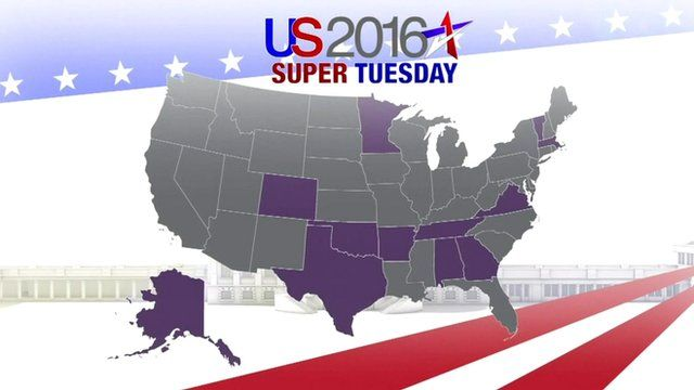 US 2016 Election: Super Tuesday