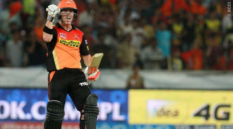 Warner and Dhawan helps SRH post their second win in IPL