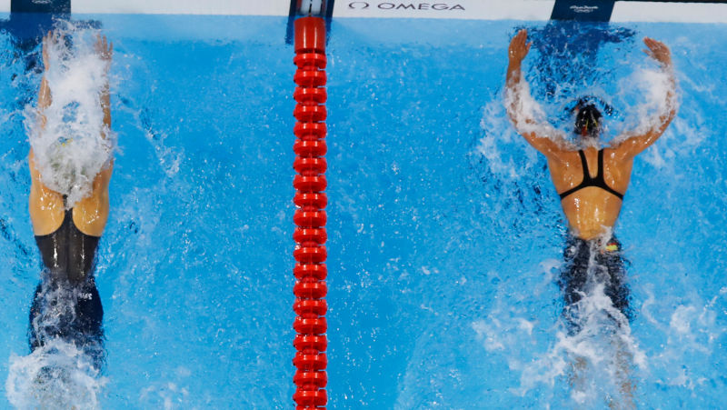 Ultra-High Blue Light Stimulated Olympic Swimmers