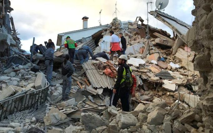 Italy Earthquake: Buildings destroyed by a powerful tremor near Norcia Town