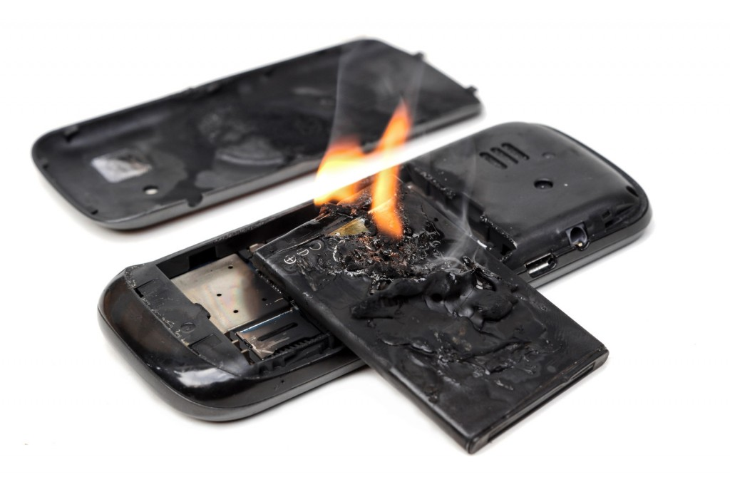 Battery with Built-In Fire Extinguisher