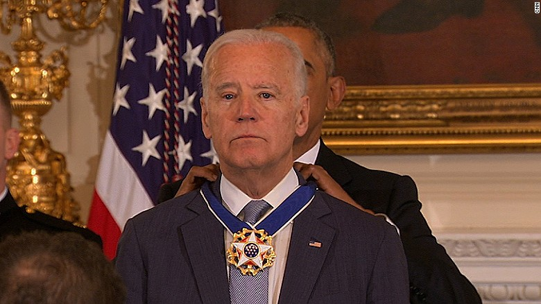 Biden awarded presidential Medal of Freedom