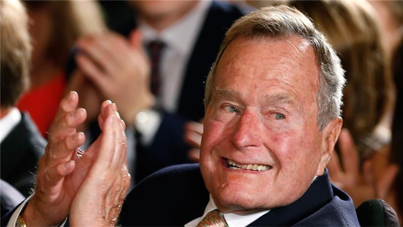 George HW Bush to leave intensive care
