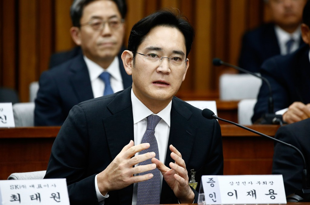 Samsung heir questioned