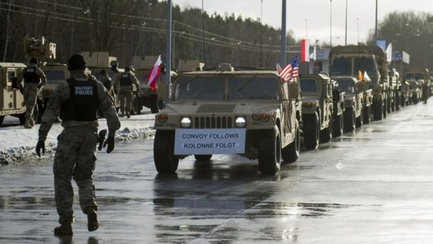 US Tanks and Troops in Poland