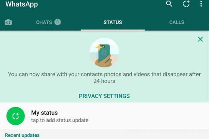 WhatsApp Old Status Feature