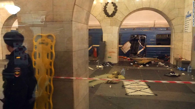St Petersburg metro explosion Kills about 11 – Suspect from Central Asia