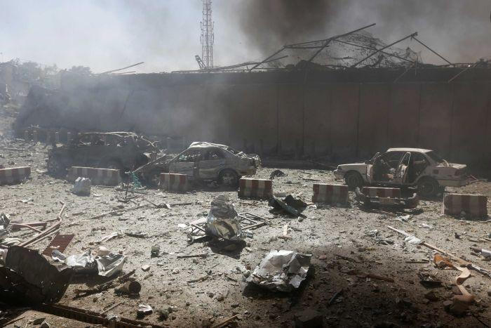 Bombing in Diplomatic Zone