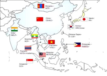 asia in world map