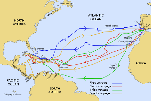 Christopher Columbus voyages