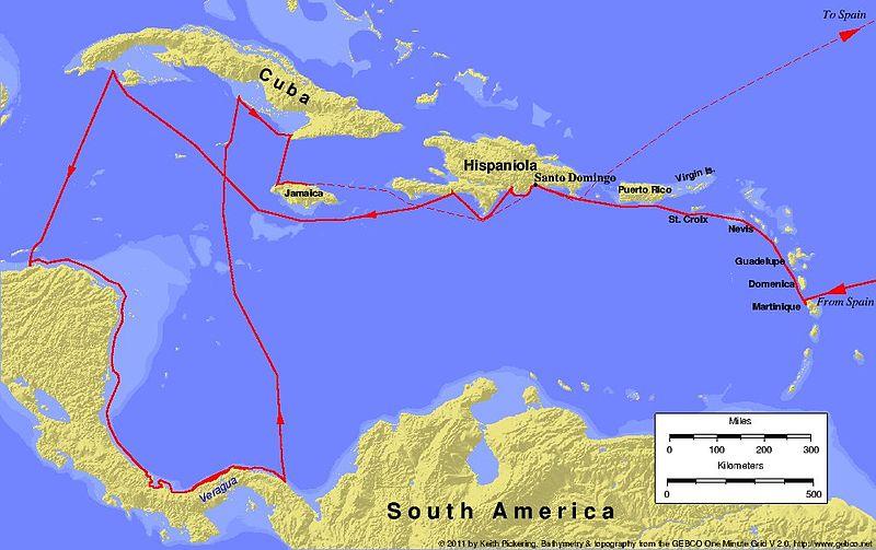 Columbus fourth voyage